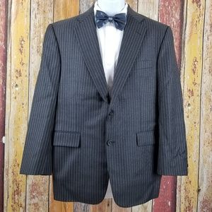 Burberry London Wool Gary Striped 2 Piece Suit 40S